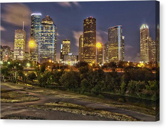 Houston Cityscape3 Canvas Print