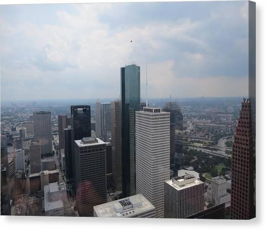 Houston Skyline Canvas Print - Houston Downtown Skyline by Veronica Campos