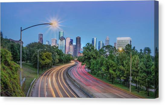 Houston Evening Cityscape Canvas Print