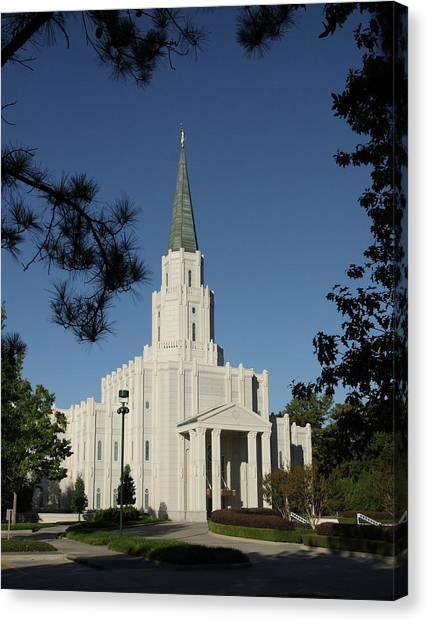 Houston Lds Temple Canvas Print