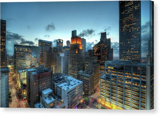 Houston Skyline Canvas Print - Houston by Mariel Mcmeeking