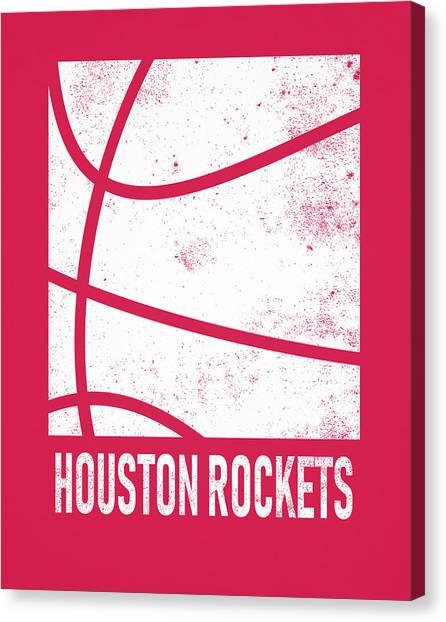 Houston Rockets Canvas Print - Houston Rockets City Poster Art 2 by Joe Hamilton