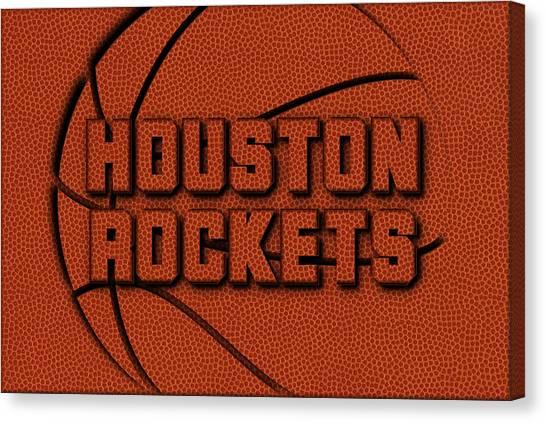 Houston Rockets Canvas Print - Houston Rockets Leather Art by Joe Hamilton