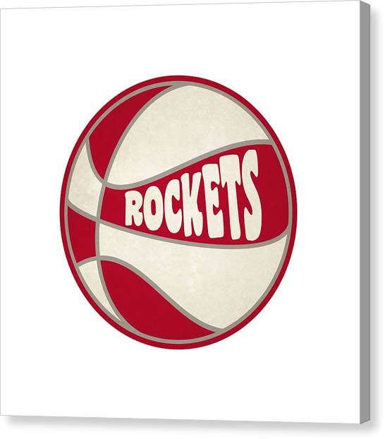 Houston Rockets Canvas Print - Houston Rockets Retro Shirt by Joe Hamilton