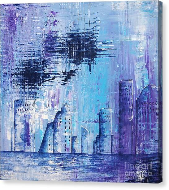 Houston Skyline 1 Canvas Print