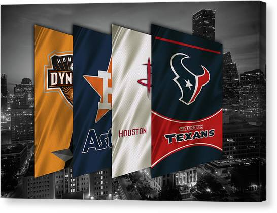 Houston Texans Canvas Print - Houston Sports Teams 2 by Joe Hamilton