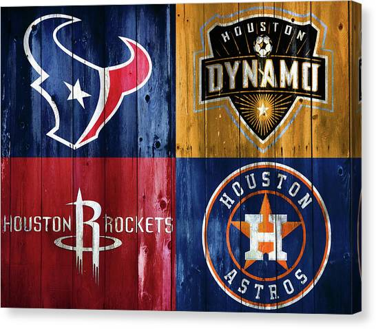 Houston Dynamo Canvas Print - Houston Sports Teams Barn Door by Dan Sproul