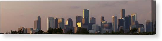 Houston Sunset Canvas Print