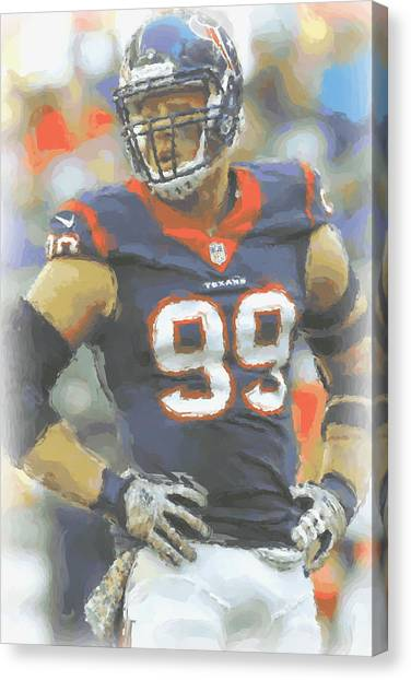Houston Texans Canvas Print - Houston Texans Jj Watt 2 by Joe Hamilton