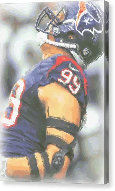 Houston Texans Canvas Print - Houston Texans Jj Watt 3 by Joe Hamilton