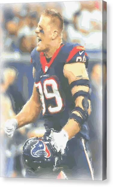 Houston Texans Canvas Print - Houston Texans Jj Watt 5 by Joe Hamilton
