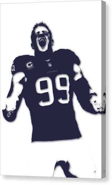 Houston Texans Canvas Print - Houston Texans Jj Watt by Joe Hamilton