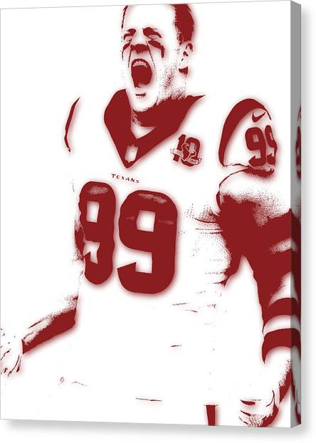 Houston Texans Canvas Print - Houston Texans Jj Watts by Joe Hamilton
