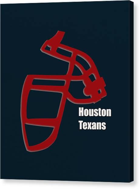 Houston Texans Canvas Print - Houston Texans Retro by Joe Hamilton