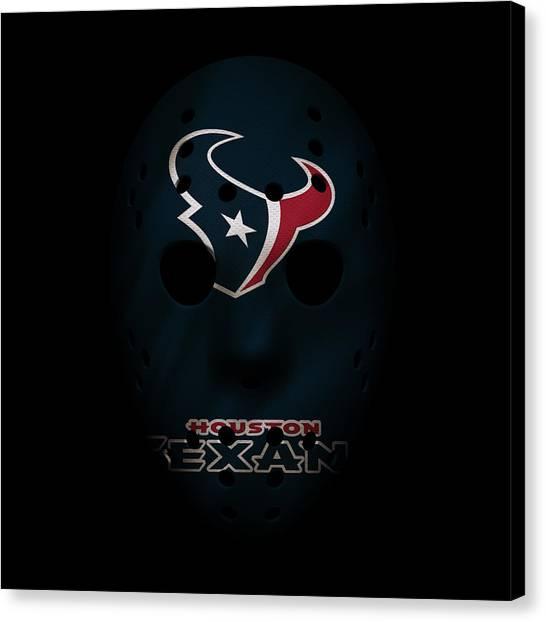 Houston Texans Canvas Print - Houston Texans War Mask by Joe Hamilton