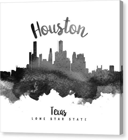 Houston Skyline Canvas Print - Houston Texas Skyline 18 by Aged Pixel