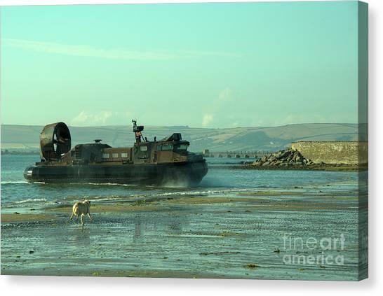 Royal Marines Canvas Print - Hover Dog by Rob Hawkins