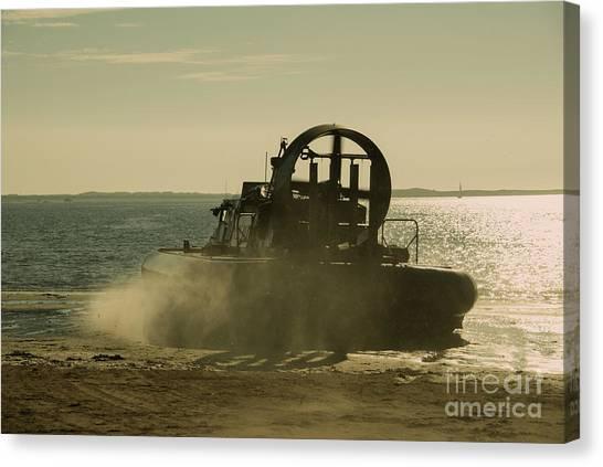Royal Marines Canvas Print - Hovercraft Gold  by Rob Hawkins