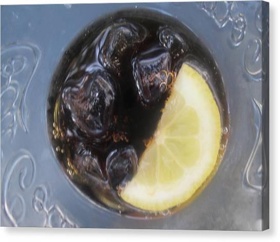 Lemons Canvas Print - How About A Glass Of Coke? by Anamarija Marinovic
