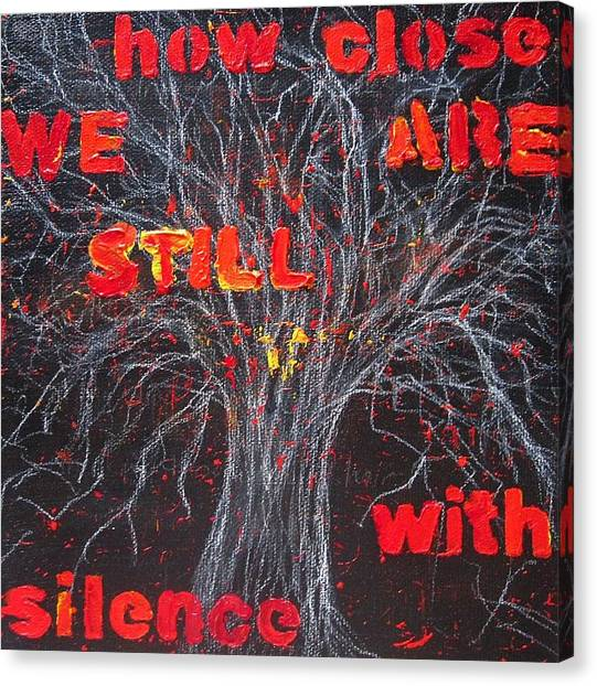 How Close We Are Still With Silence Canvas Print by Natalie Mae Richards