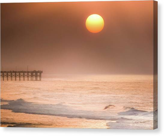 Beach Sunrises Canvas Print - How Great Thou Art by Karen Wiles