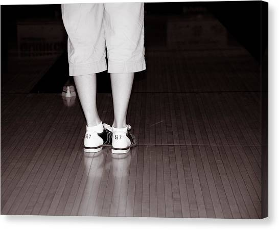 Bowling Shoes Canvas Print - How Many Did I Get by Edward Myers