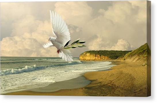 How Many Seas Must A White Dove Sail? Canvas Print