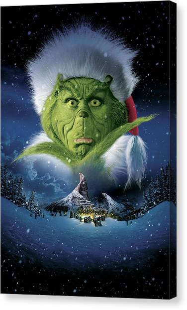 Grinch Canvas Print - How The Grinch Stole Christmas 2000  by Geek N Rock