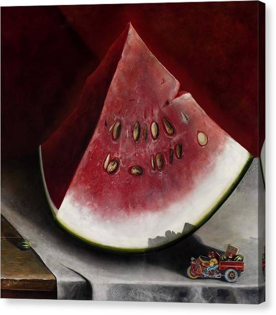 How To Grow Watermelon Canvas Print by Stephen Schubert