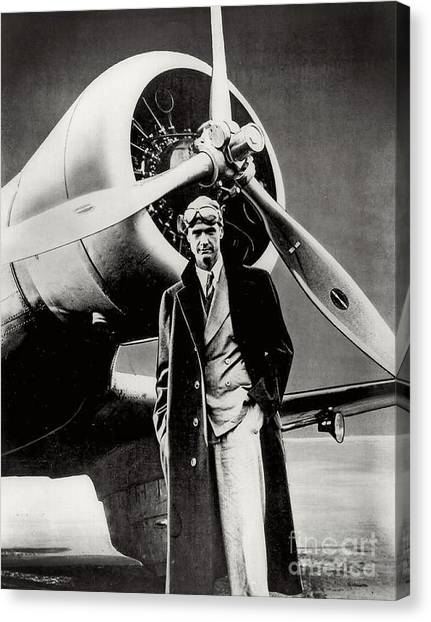 Howard Hughes - American Aviator  Canvas Print