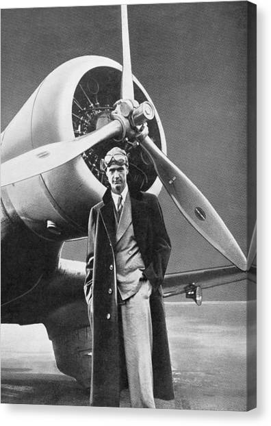 Aviators Canvas Print - Howard Hughes, Us Aviation Pioneer by Science, Industry & Business Librarynew York Public Library