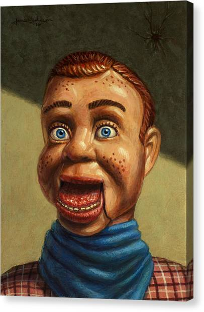 Dummies Canvas Print - Howdy Doody Dodged A Bullet by James W Johnson