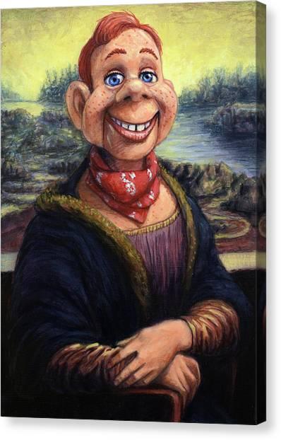 Fifties Canvas Print - Howdy Doovinci by James W Johnson