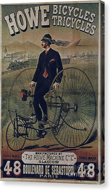 Howe Bicycles Tricycles Vintage Cycle Poster Canvas Print