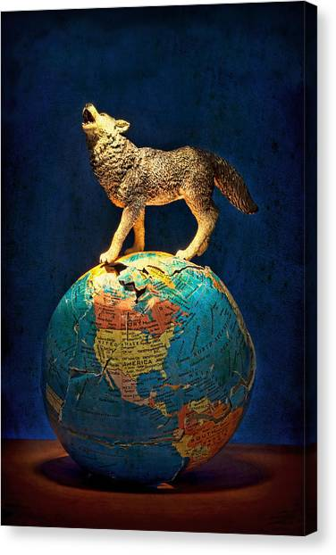 Political Science Canvas Print - Howling At The Light by Jeff  Gettis