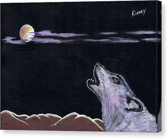 Howling At The Moon Canvas Print by Jay Kinney