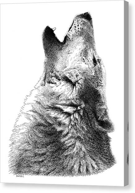 Howling Timber Wolf Canvas Print
