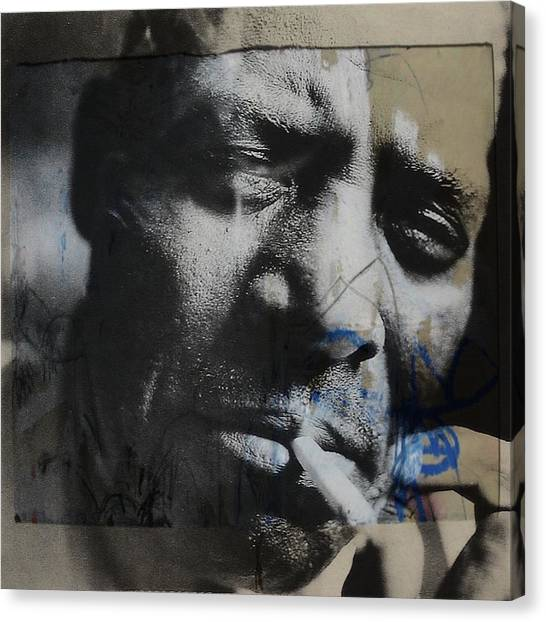 Howling Wolves Canvas Print - Howlin' Wolf  by Paul Lovering