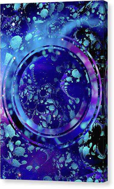 Canvas Print featuring the painting Hubble 3014 by Susan Maxwell Schmidt