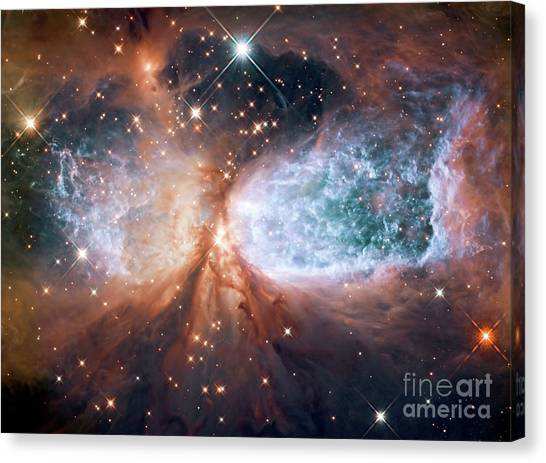 Hubble View Of Star Forming Region S106 Canvas Print
