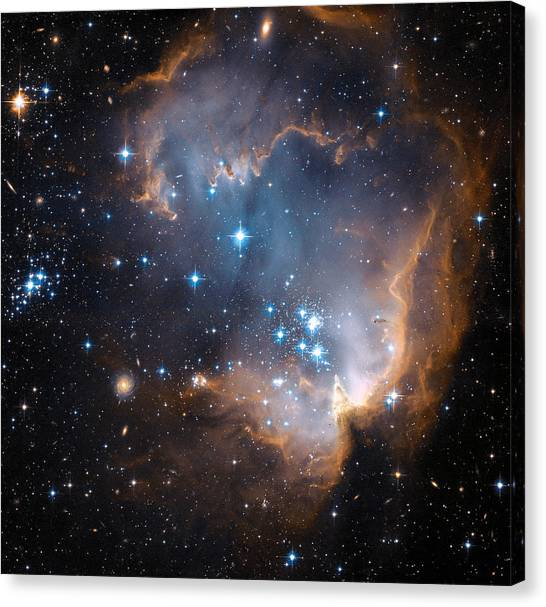 Stellar Canvas Print - Hubble's View Of N90 Star-forming Region by Nasa