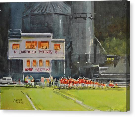 Gridiron Canvas Print - Huddle Up by Spencer Meagher
