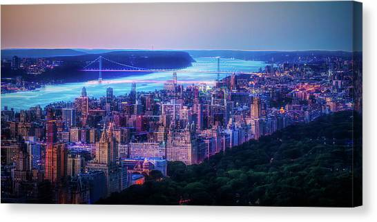 Canvas Print featuring the photograph Hudson River Sunset by Theodore Jones
