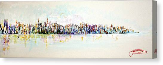 Hudson River View Canvas Print