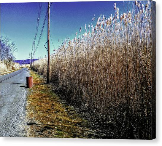 Hudson River Winter Walk Canvas Print