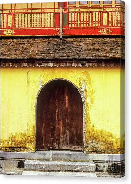 Canvas Print - Hue Imperial Citadel Arched Door 01 by Rick Piper Photography