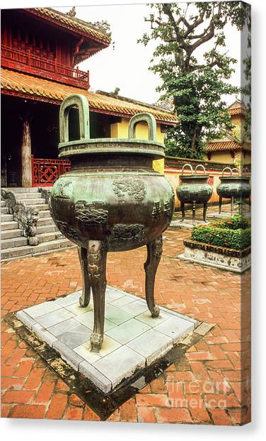 Canvas Print - Hue Imperial Citadel Dynastic Urn by Rick Piper Photography