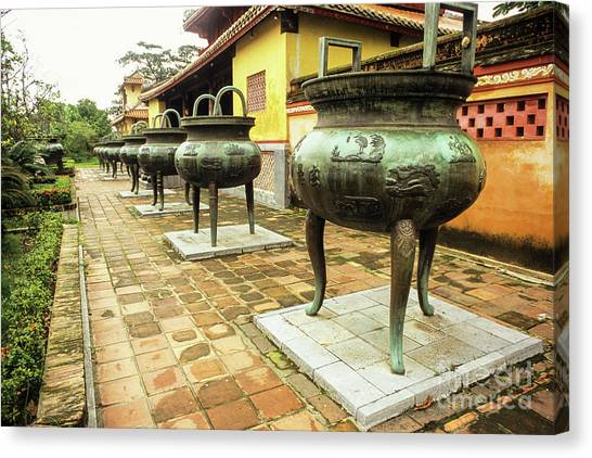 Canvas Print - Hue Imperial Citadel Dynastic Urns by Rick Piper Photography