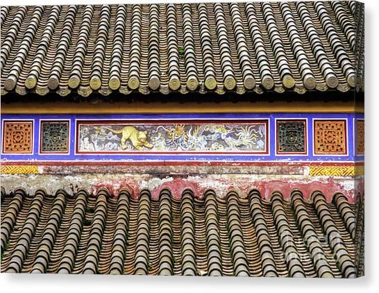 Canvas Print - Hue Thai Hoa Palace Roof by Rick Piper Photography