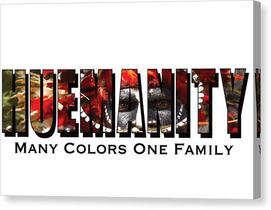 David Beckham Canvas Print - Huemanity, Many Colors One Family by Alexander Menchero